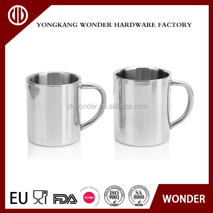 300ml/450ml custom color stainless steel double wall coffee cup