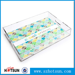 Acrylic Clear Serving Tray,Custom Design Acrylic Trays Food