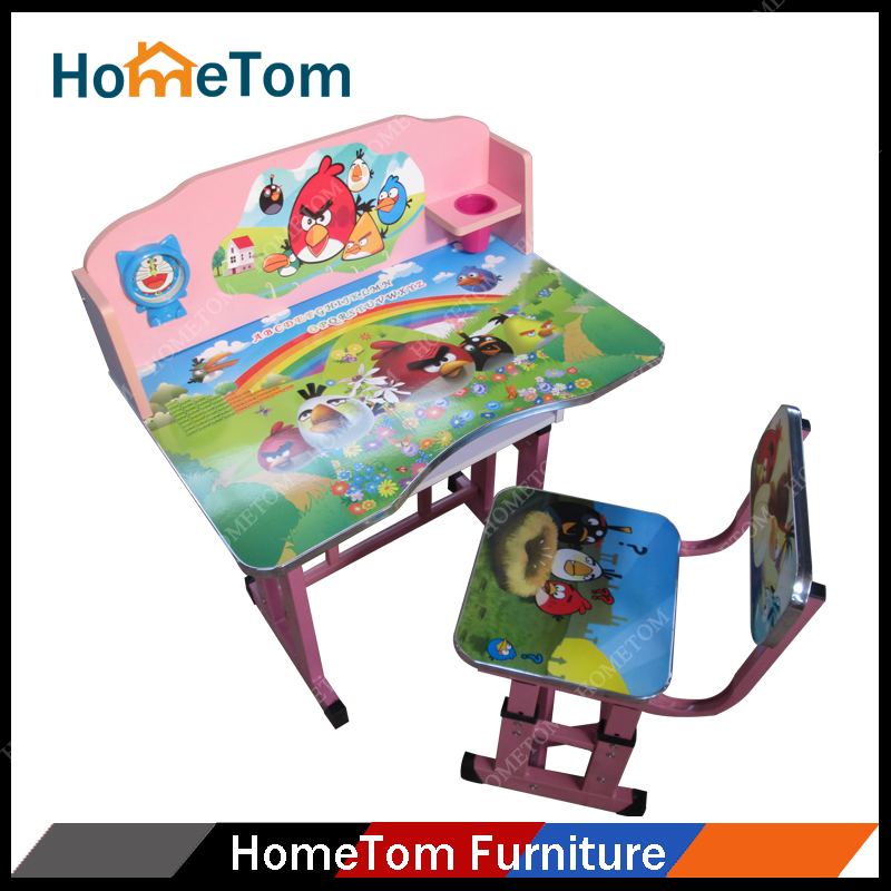 PB Wood Material Colorful Cartoon Picture Kids Study Desk