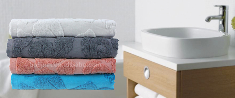 China supplier solid color Japanese popular jacquard towel for face