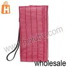 Delicate Stone Textured Handbag Wallet Leather Case for Samsung Galaxy S3 S4 i9500 iPhone 5 Rose