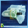 Inflatable packaging fill column wine bladder packing