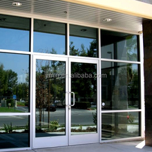 China Suppliers Aluminum Commercial Double Glazed Swing Door For Sale