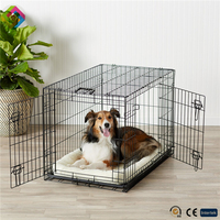 Pet dog wire cage,iron cage easy fold mesh pet cages