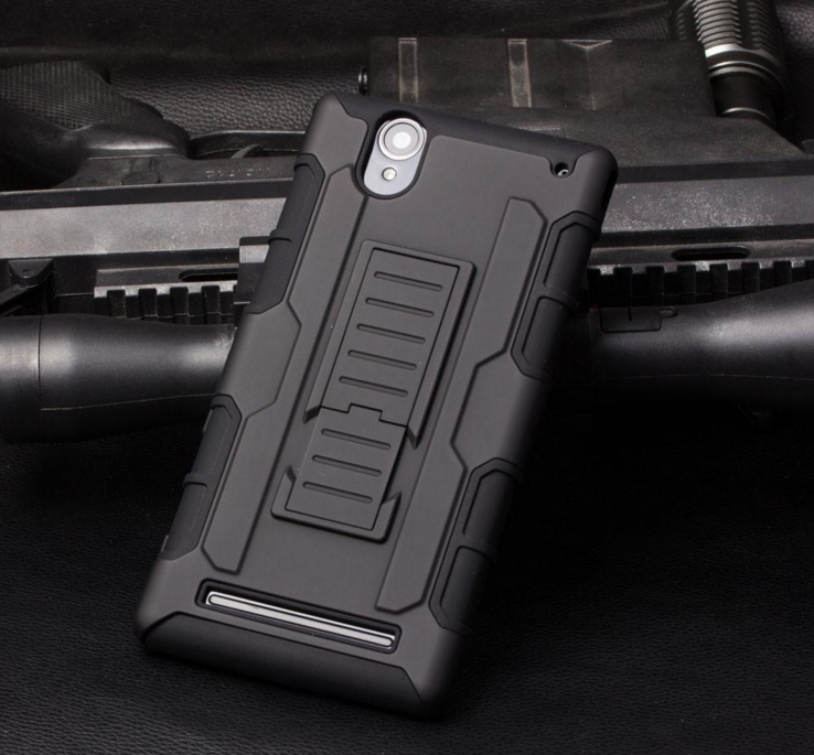 Armor combo Rugged PC+silicone + Belt Clip Holster Stand phone cases for ZTE MAX