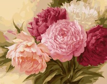 G429 flower paintings by numbers with acrylic paints for home decor