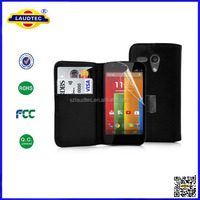 New PU Leather Wallet Flip Case Cover for MOTOROLA MOTO G