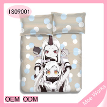 Game Kantai collection Bedding set with two pillow case mattress cover quilted Bedspread