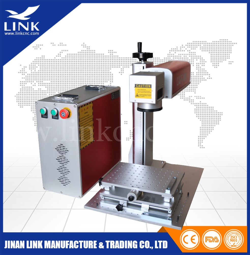 Fiber laser laser printer for stainless steel metal plate silver/ gold fiber laser marking machine price with FDA CE