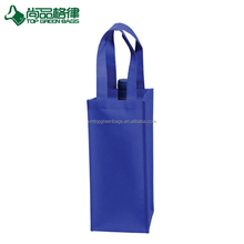 Wholesale 1 bottle non woven wine tote gift wine packing bag