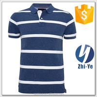 new style slim fit classic stripe polo shirt for men