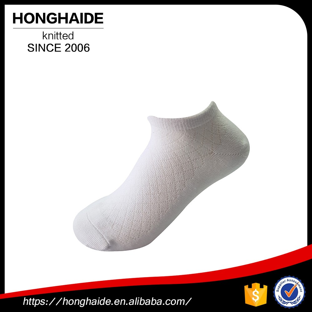 china factory high quality custom boys wearing white tube ankle socks
