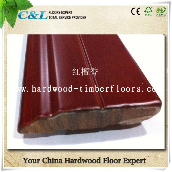 C&L classic durable santo mahogany solid wood skirting board