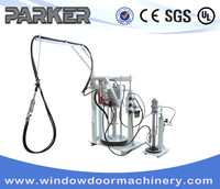 Insulated Glass Manual Hot Melt Extruder Coating Machine/Two Component Sealant Spreading Machine