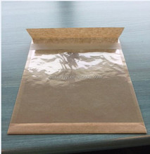 kraft paper bag with clear pp front film for bacon beef jerk package