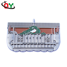 fashion cheap painting silver souvenir coin animal crocodile cartoon ship shape custom challenge coin