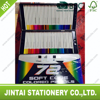 smoothly glitter high quality color pencil into tinbox