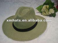 summer paper straw panama hat for men