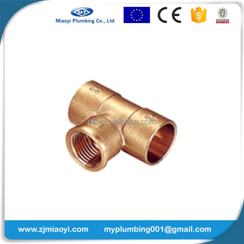 Brass Soldering Fittings for Copper Pipe EN1254 - Female Tee