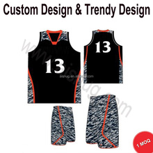 Design custom short sleeve basketball jerseys with Small MOQ