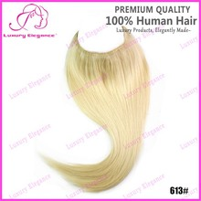 One Piece Clip In Fish Line Hair Extension Brazilian Weave 613 blonde
