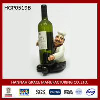 Sitting Chef Resin Wine Bottle Holder