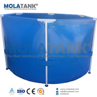 Reinforced Foldable Small Plastic Provide Oxygen Air Pump Water Fish Farming Tank
