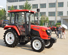China Luzhong 554 55hp 4WD wheeled farming tractor for hot sale in Zimbabwe