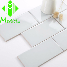 3X6, 4X8 light grey glossy ceramic wall tiles/ kitchen ceramic subway tile/ foshan tile front wall