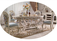 home furnishings Dining room solid wood lazy susan dining table