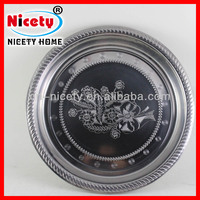 Stainless steel round flower pot dish / food tray