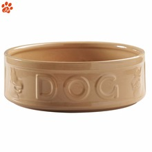 Ceramic personalized color feeder dog bowl for dog food warmer