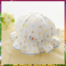 New style printed and embroidered infant baby girls hat fashion baby cap for girls