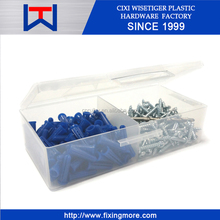 #10 201pcs 1 inch Conical Anchor Kit in a plastic package