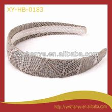 fashion hair accessories grey lace hairband wide plain headband