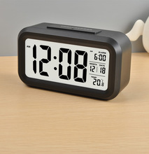 Cheap Table LCD Digital Alarm Clock with Temperature and backlight For Kids And The Elderly