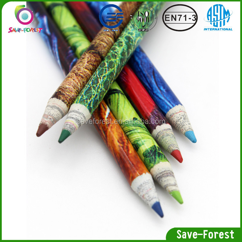 High Quality 7 Inch Color Paper Pencil for drawing