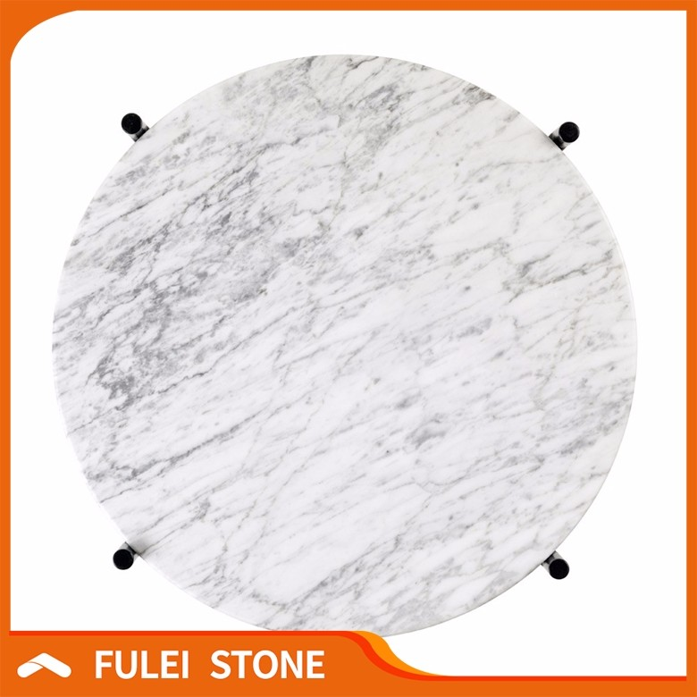 Wholesales natural white marble stone dinner plate