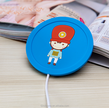 usb heat silicone cartoon coaster coffee pad warmer coaster