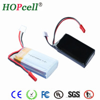 HOPcell rechargeable 153055 850mAh 7.2V 7.4v rc helicopter battery lipo battery