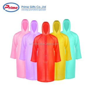 Wholesale custom disposable printed PE adult rain poncho