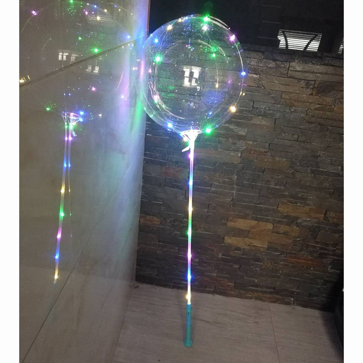 20inch  Clear LED Bobo Balloon with cup&stick,no need helium