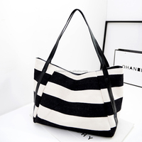 Fringe canvas tote bag leather handle woman handbags tote bag