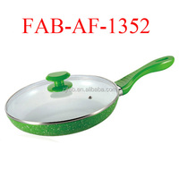Aluminium ceramic coating frying pan with lid