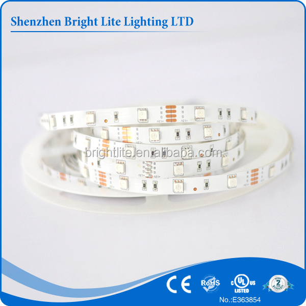 2015 Hot sale smd 5050 Nonwaterproof ip20 RGB 30led UL certificate color changing led strip light