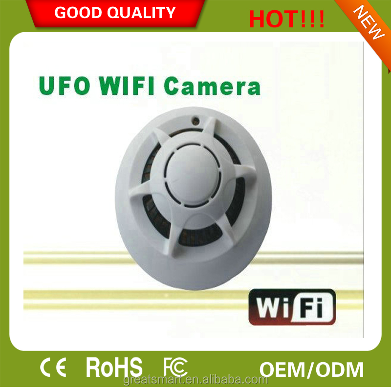 WIFI 720P smoke detector fire alarm smoke and carbon monoxide detector motion detector dvr video camera