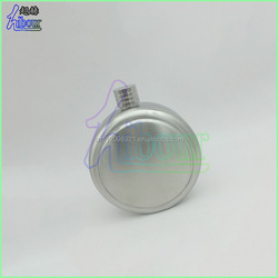 Modern promotional round liquor hip flask/factory wholesale 5oz stainless steel hip flask of rounded style