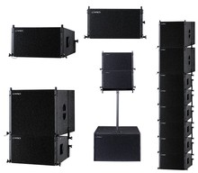 Compact design small size full frequency concert line array speaker linear stage speakers