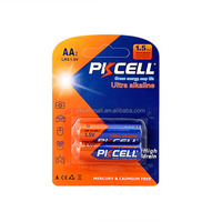 PKCELL lr6 aa batteries 2pcs/pack,144pack/lot for hotsale,free sample available for buyers