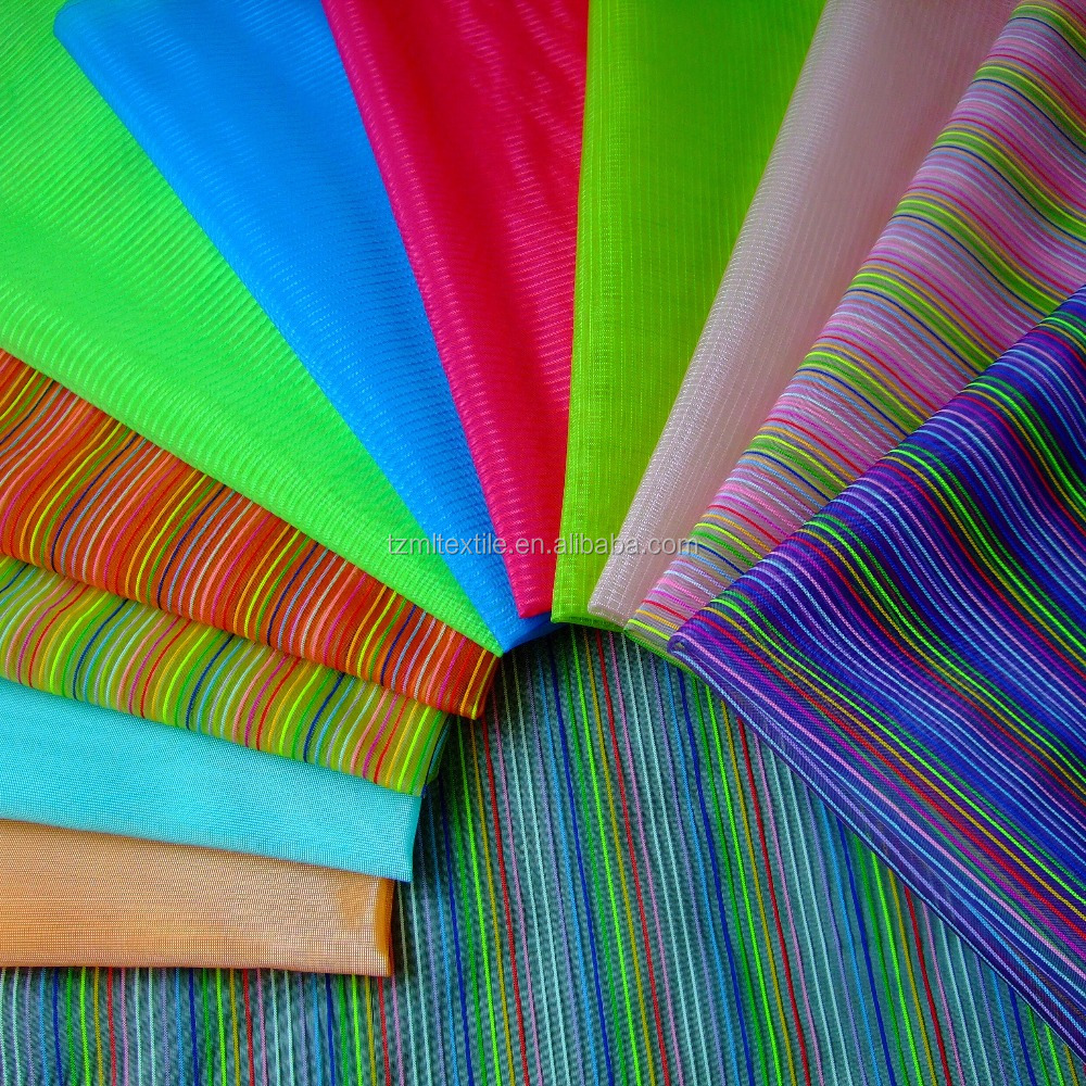 micro nylon color rainbow coloured stripe oxford fabric
